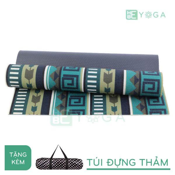 Thảm Yoga PU Relax hoa văn mỹ thuật (HVMT2)