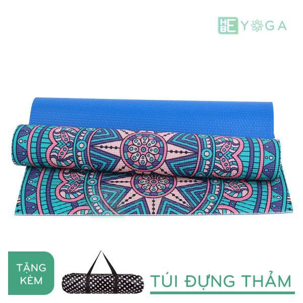 Thảm Yoga PU Relax hoa văn mỹ thuật (HVMT5)
