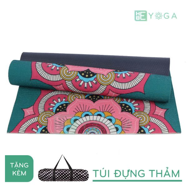 Thảm Yoga PU Relax hoa văn mỹ thuật (HVMT7)