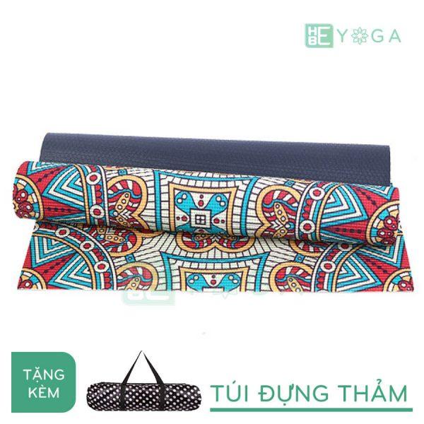 Thảm Yoga PU Relax hoa văn mỹ thuật (HVMT8)