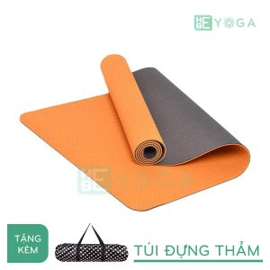 Thảm Yoga TPE Eco Friendly màu cam