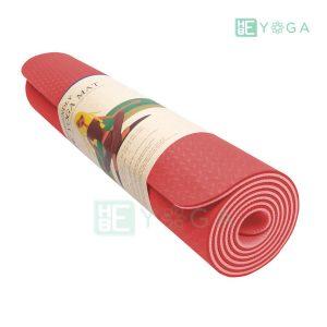 Thảm Yoga TPE Eco Friendly màu đỏ 3