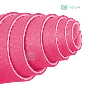 Thảm Yoga TPE Eco Friendly màu hồng 2