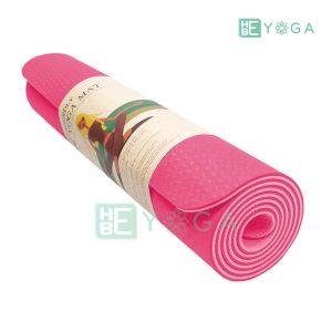 Thảm Yoga TPE Eco Friendly màu hồng 3