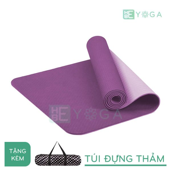 Thảm Yoga TPE Eco Friendly màu tím