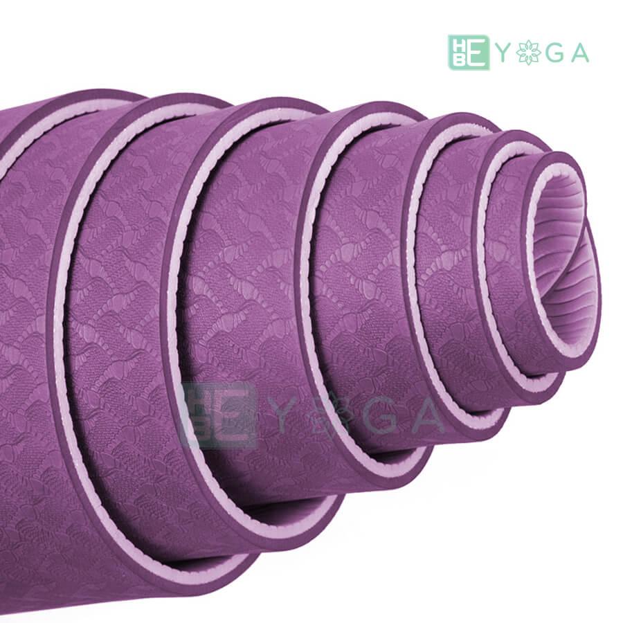 Thảm Yoga TPE Eco Friendly màu tím 2