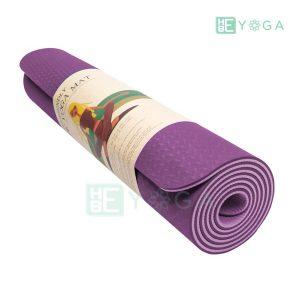 Thảm Yoga TPE Eco Friendly màu tím 3