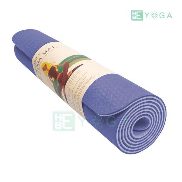 Thảm Yoga TPE Eco Friendly màu tím môn 3