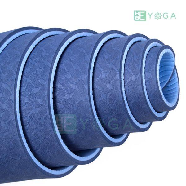 Thảm Yoga TPE Eco Friendly màu xanh dương 2