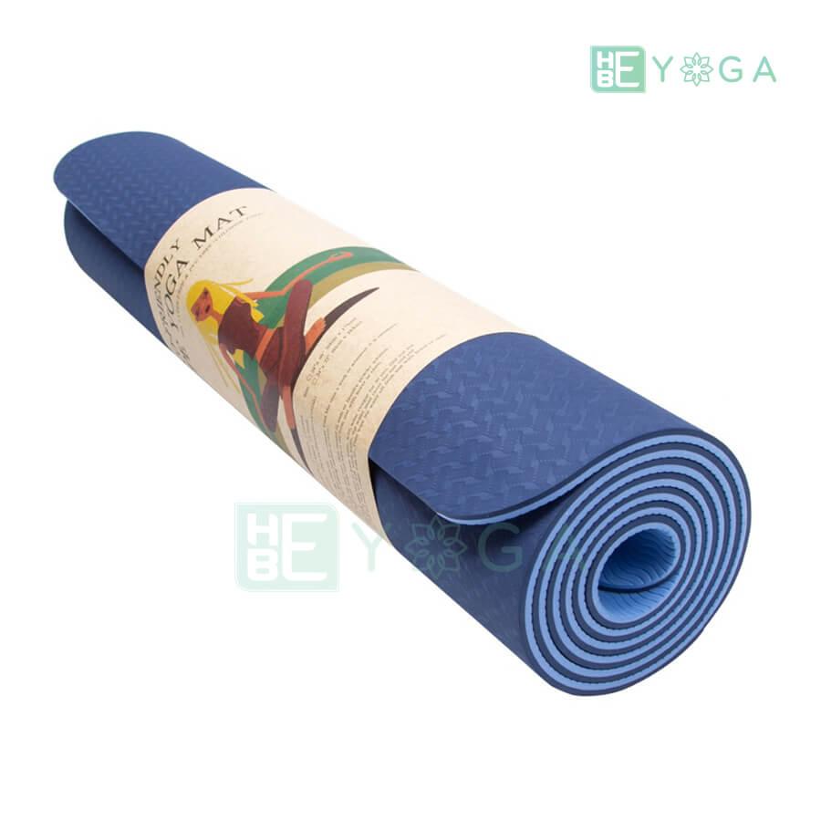 Thảm Tập Yoga Eco Friendly TPE - Xanh Dương Đậm (6mm)