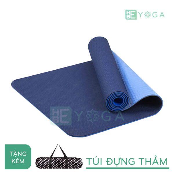 Thảm Yoga TPE Eco Friendly màu xanh dương