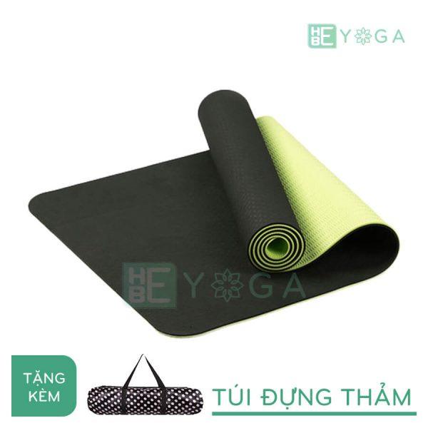 Thảm Yoga TPE Eco Friendly màu xanh rêu