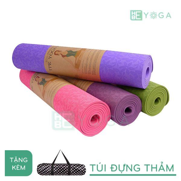 Thảm Yoga TPE FITFOUND hoa văn đặc sắc