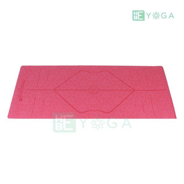 Thảm Yoga TPE Định Tuyến Cao Cấp (Màu Đỏ) 1