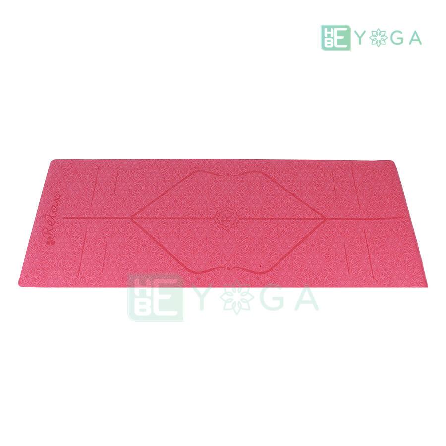 Thảm Yoga Định Tuyến PU Cao Cấp (Màu Đỏ) 1