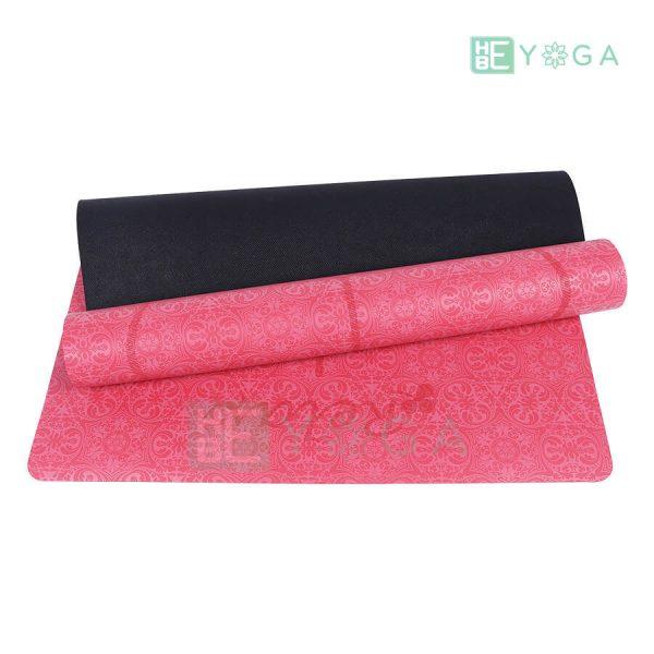 Thảm Yoga TPE Định Tuyến Cao Cấp (Màu Đỏ) 2