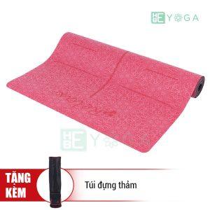 Thảm Yoga TPE Định Tuyến Cao Cấp (Màu Đỏ)