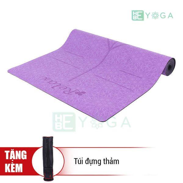 Thảm Yoga Định Tuyến PU Cao Cấp (Màu Tím)