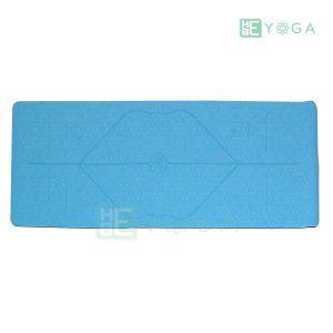 Thảm Yoga Định Tuyến PU Cao Cấp (Màu Xanh Dương) 1