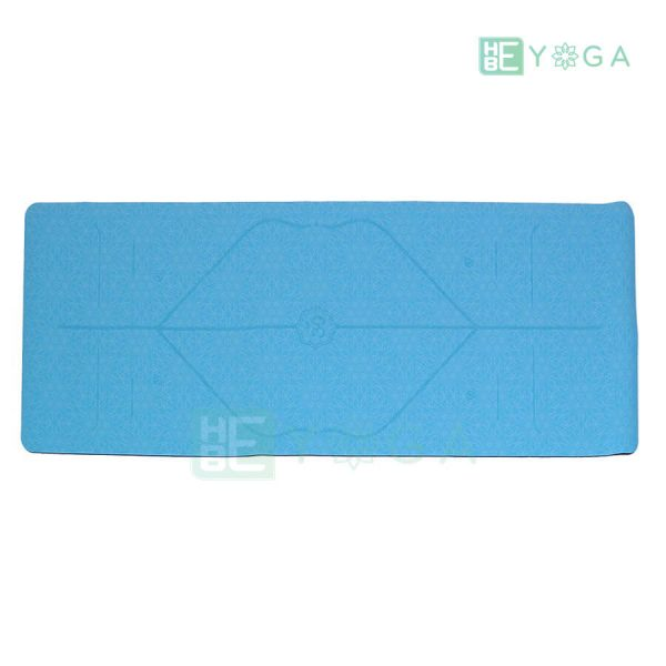 Thảm Yoga TPE Định Tuyến Cao Cấp (Màu Xanh Dương) 1