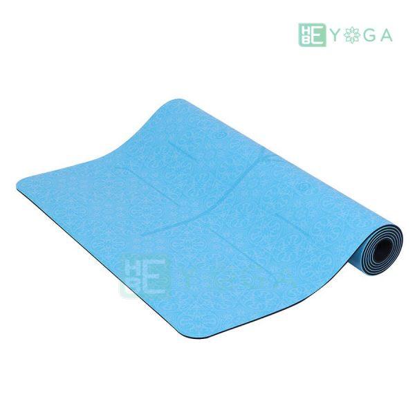 Thảm Yoga TPE Định Tuyến Cao Cấp (Màu Xanh Dương) 2