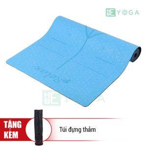 Thảm Yoga TPE Định Tuyến Cao Cấp (Màu Xanh Dương)