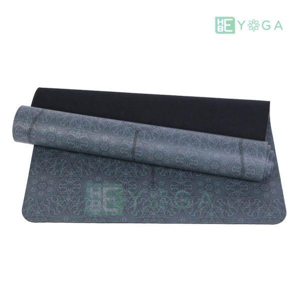 Thảm Yoga TPE Định Tuyến Cao Cấp (Màu Xám) 2