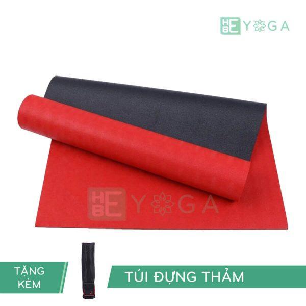 Thảm Yoga TPE Relax Cao su non 6mm 2 lớp màu đỏ