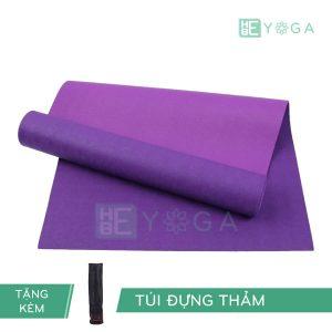 Thảm Yoga TPE Relax Cao su non 6mm 2 lớp màu tím