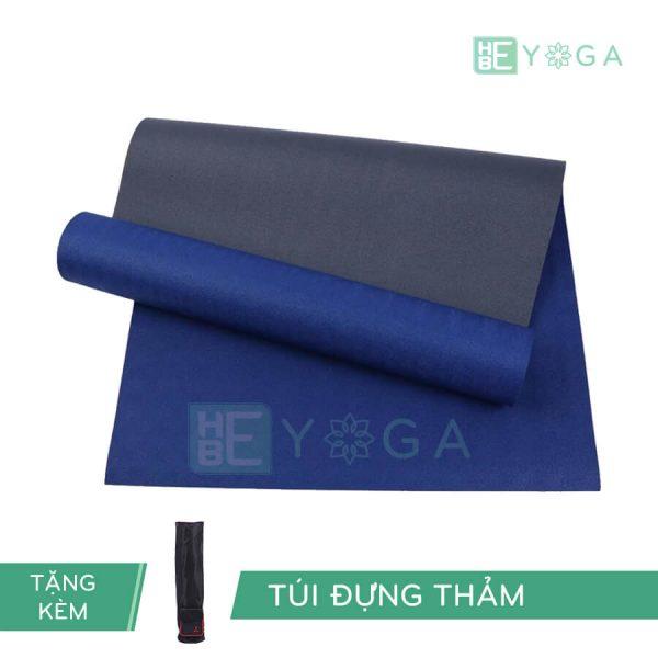 Thảm Yoga TPE Relax Cao su non 6mm 2 lớp màu xanh coban