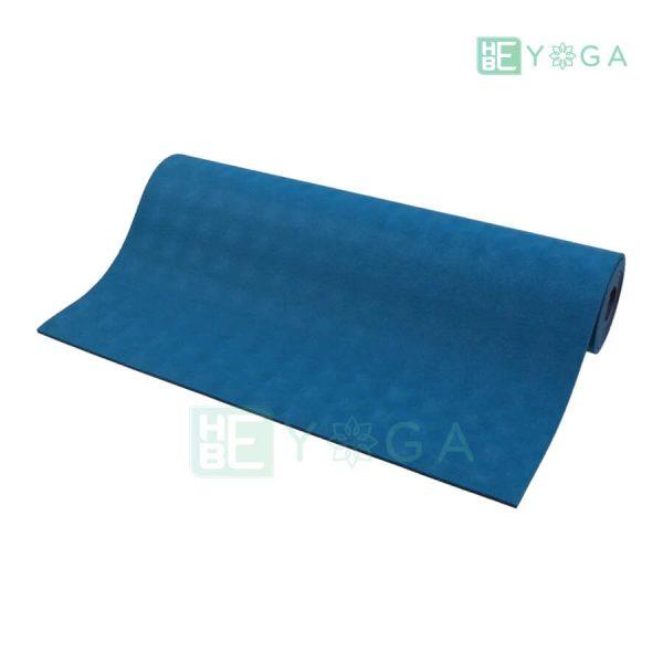 Thảm Yoga TPE Relax Cao su non 6mm 2 lớp màu xanh dương 1