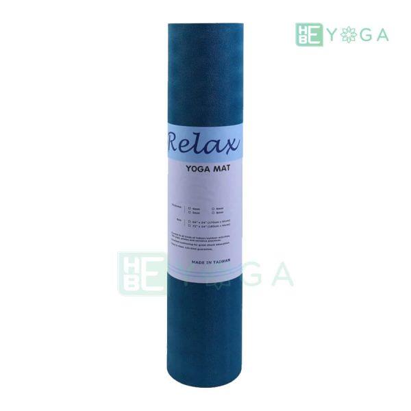 Thảm Yoga TPE Relax Cao su non 6mm 2 lớp màu xanh dương 2