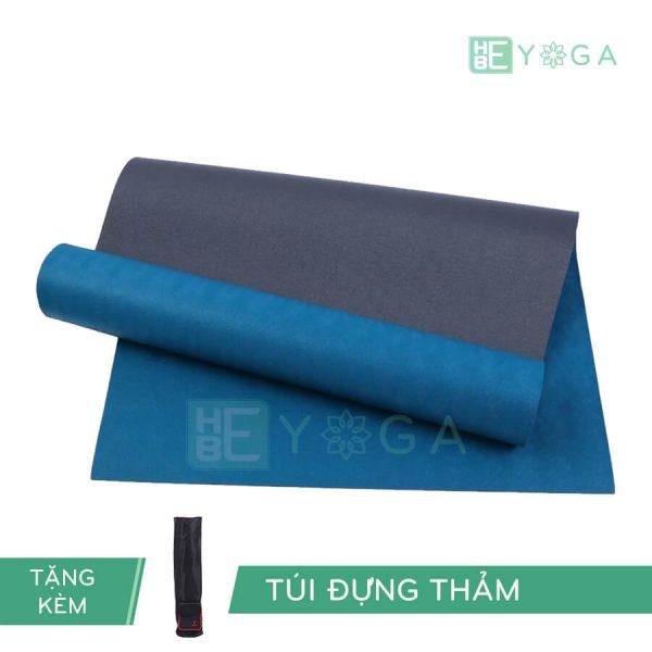 Thảm Yoga TPE Relax Cao su non 6mm 2 lớp màu xanh dương