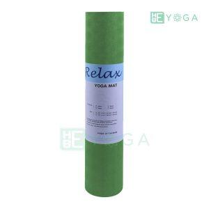 Thảm Yoga TPE Relax Cao su non 6mm 2 lớp màu xanh lá 2
