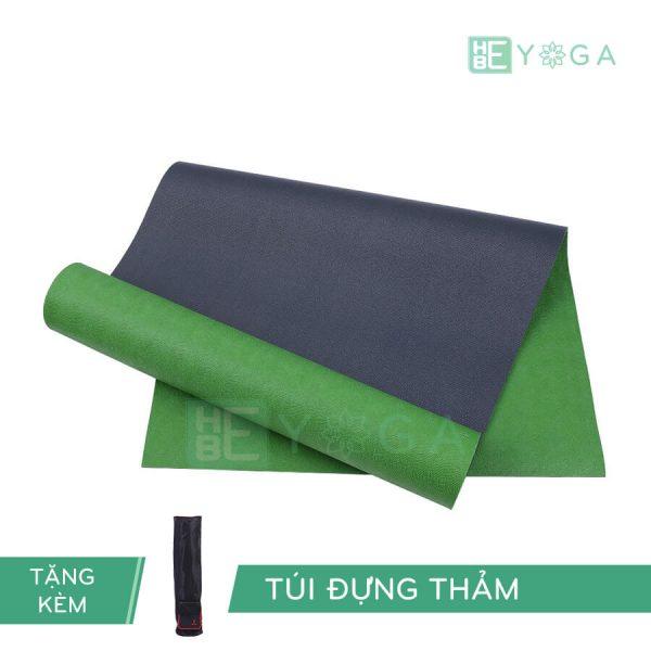 Thảm Yoga TPE Relax Cao su non 6mm 2 lớp màu xanh lá