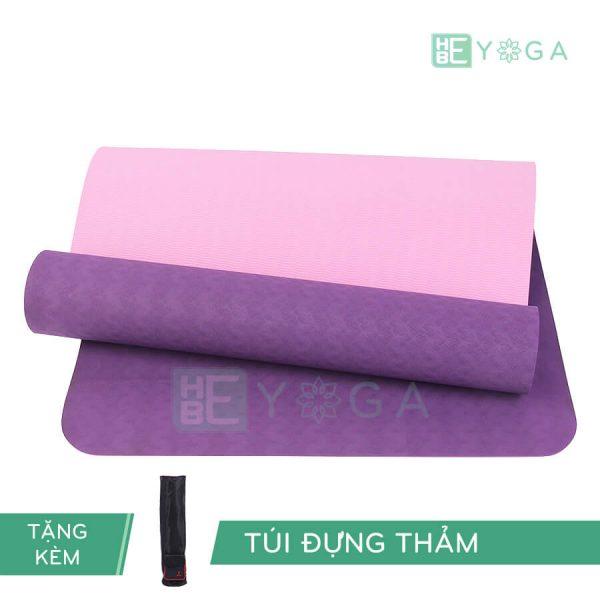 Thảm Yoga TPE Eco Relax màu tím đậm