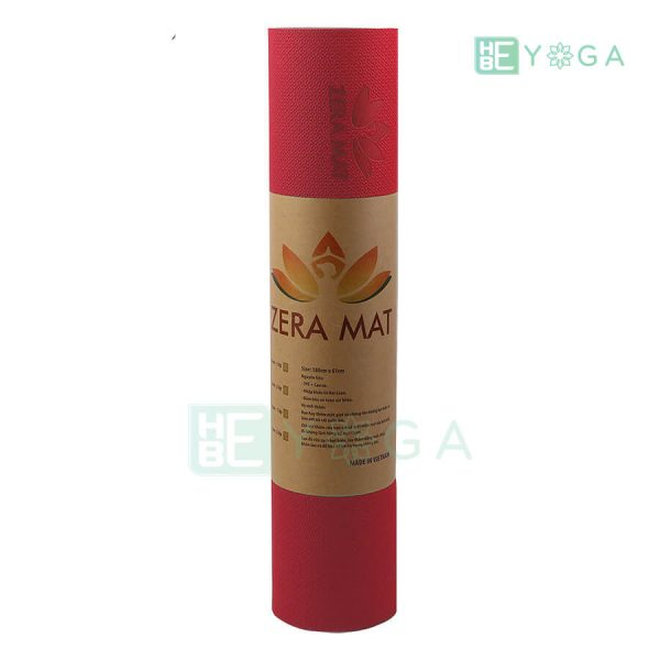 Thảm Yoga TPE ZERA màu đỏ 2