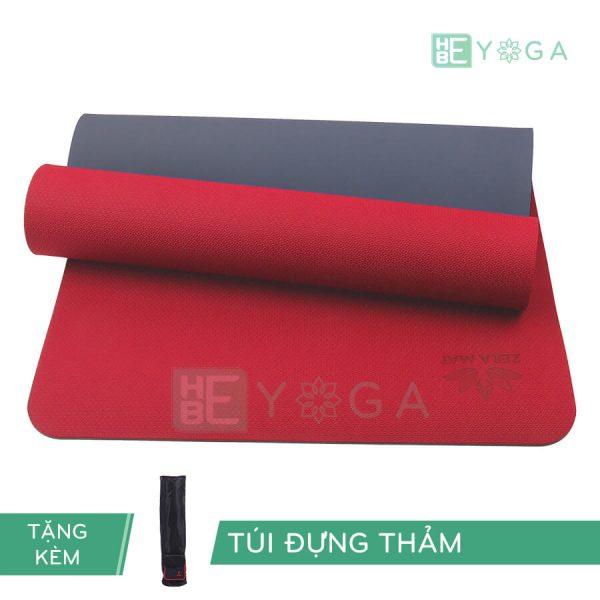 Thảm Yoga TPE ZERA màu đỏ
