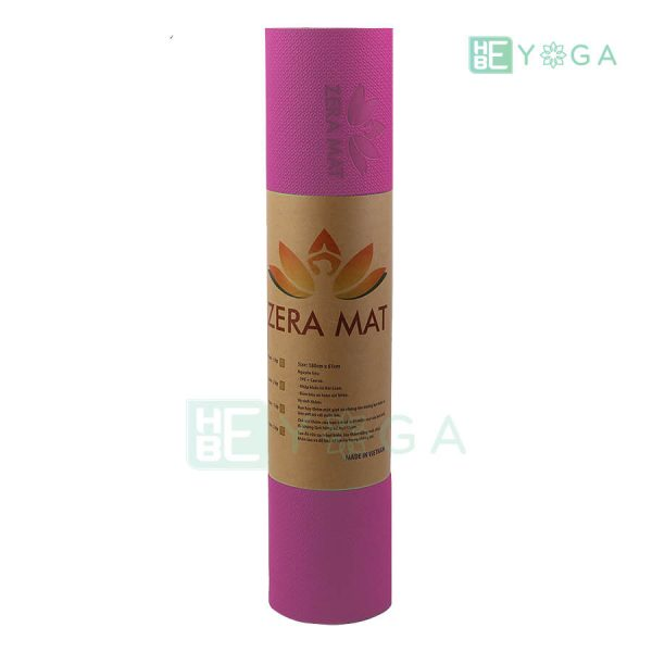 Thảm Yoga TPE ZERA màu hồng 2
