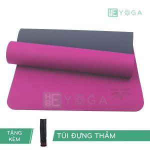 Thảm Yoga TPE ZERA màu hồng