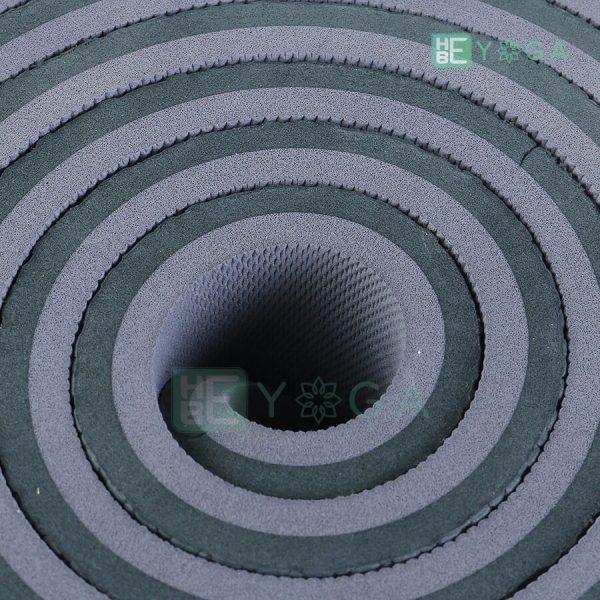 Thảm Yoga TPE ZERA màu xám đen 2