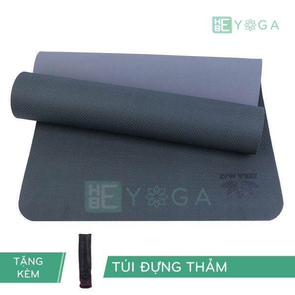 Thảm Yoga TPE ZERA màu xám đen