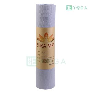 Thảm Yoga TPE ZERA màu xám trắng 3