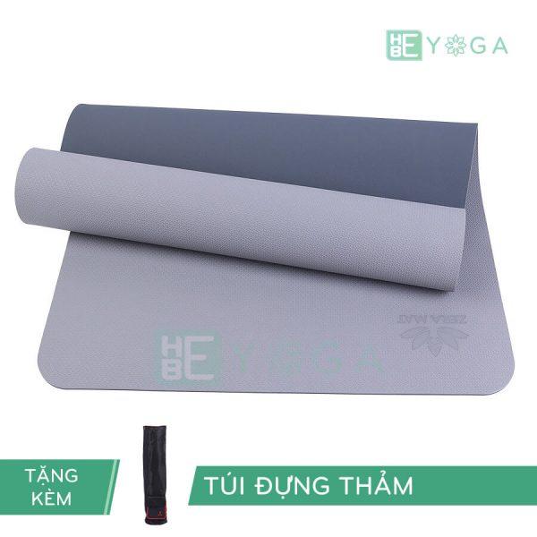 Thảm Yoga TPE ZERA màu xám trắng