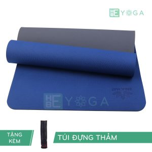 Thảm Yoga TPE ZERA màu xanh dương