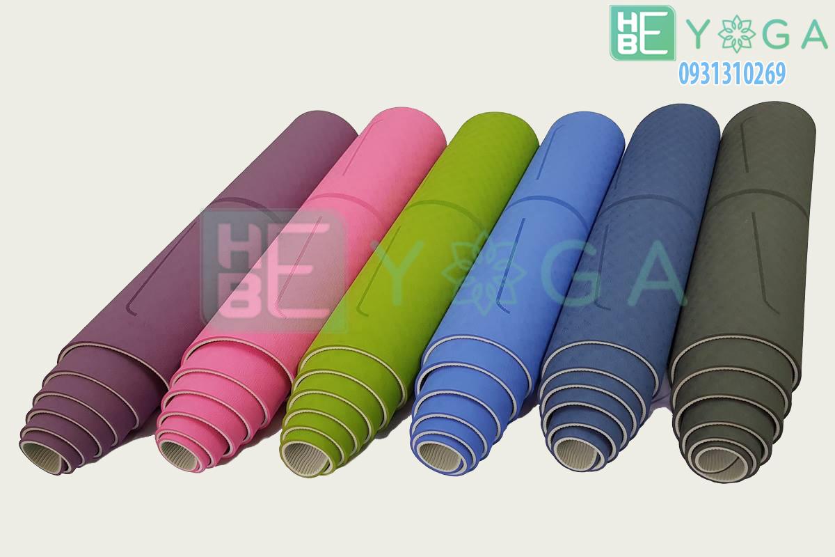 thảm yoga định tuyến TPE 2 lớp 6mm