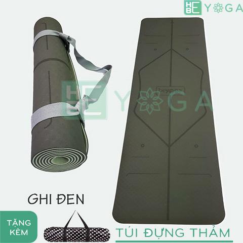 thảm yoga định tuyến tpe 2 lớp 6mm (màu xám)