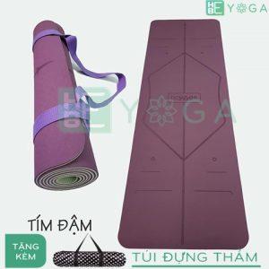 thảm yoga định tuyến tpe 2 lớp 6mm (màu tím)