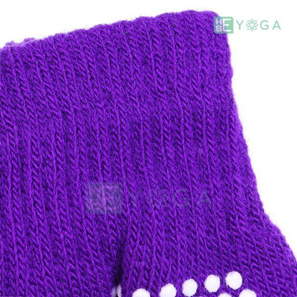 Bao tay tập Yoga chống trượt màu tím 1