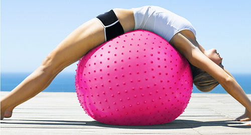 Bóng tập yoga có gai massage